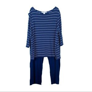 Freelance Dark Blue Striped 3 Pc Outfit Sz 2X